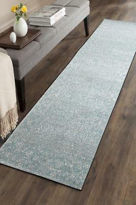 Hallway Runner Hall Runner Rug Modern Light Blue 3 Metres Long Premium Edith 258