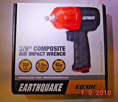 "Central Pneumatic Earthquake 3/8"" Composite Air Impact Wrench EQ38C BRAND NEW"