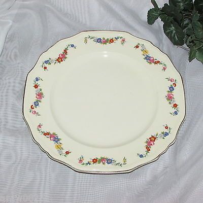 Vintage Alfred Meakin Dinner Plate Marigold Astoria Flower Swags Art Deco