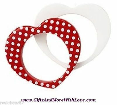 Gymboree NWT 2-pc Red White HEARTS DOTS BANGLE DRESS BRACELET JEWELRY GIFT ~ OS