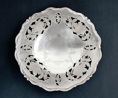 Antique Whiting Sterling Silver Pierced Cake/Bon Bon Plate