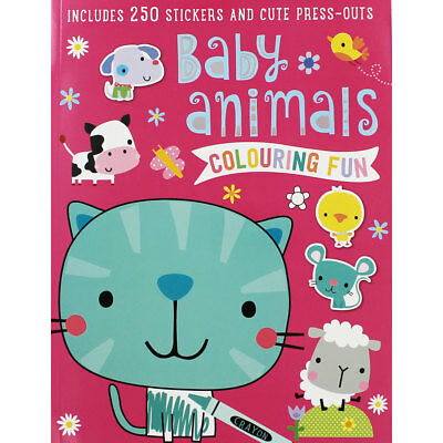 Baby Animals Colouring Fun (Paperback), Children's Books, Brand New