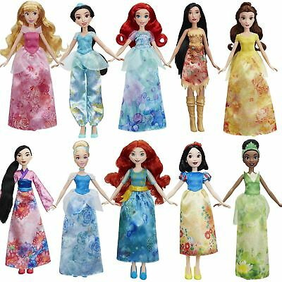 "Hasbro Disney Princess Royal Shimmer Watercolour 10"" Dolls"
