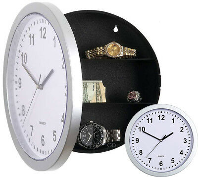 Wall Clock Safe Secret Compartment Money Jewellery Deposit Real Clock Hidden