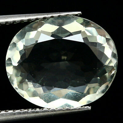 3.80 Ct Aaa! Natural! Green Amethyst Oval Uruguay Amazing