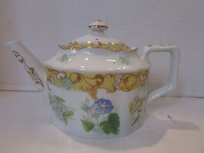 Vtg Andrea By Sadek China Teapot English Garden Made In Japan