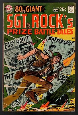 Our Army At War #203 VG/FN 5.0 DC 80 Pg Giant 1969 Sgt Rock's Prize Battle Tales