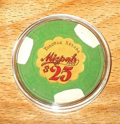 $25. MIZPAH Casino Chip - Tonopah, Nevada - 1984