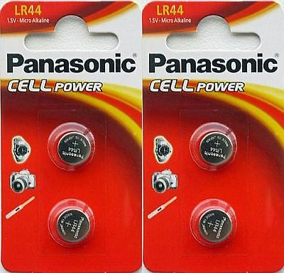 4 x Panasonic LR44 Micro Alkaline 1.5v coin cell button Batteries 357 AG13 A76