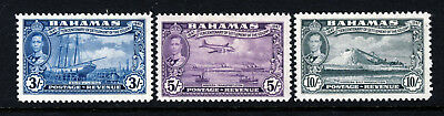 BAHAMAS 1948 Eleuthera Settlement Tercentenary High Values SG 190 to SG 192 MINT