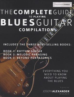 The Complete Guide to Playing Blues Guitar Compilation Books 1, 2 & 3 TAB Music