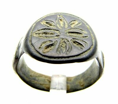 French Knight's Ring With Fleury Cross - Wearable - Medieval Artifact - F369