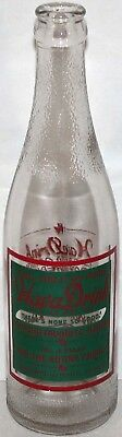 Vintage soda pop bottle HAVA DRINK red and green label 1940 Springfield MO Rare