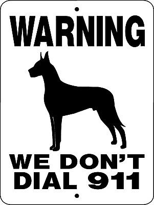 GREAT DANE Guard Dog Aluminum Sign  Vinyl GRAPHICS APPLIED  911GD