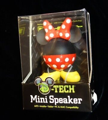 Disney D-Tech Mini Speaker Minnie Mouse - PC & Mac Compatible - New in Package!