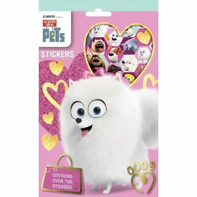 The Secret Life Of Pets 700 Assorted Stickers Kids Party Bag Stocking Filler