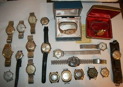 Lot of 20 Vintage Timex Watches & 1 Gruen ~ AS IS ~ Electric, Automatic & Manual