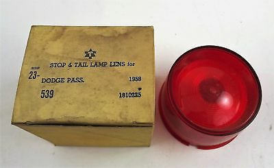 Dodge Passenger Stop & Tail Lamp Lens 1958 New Old Stock 1810225