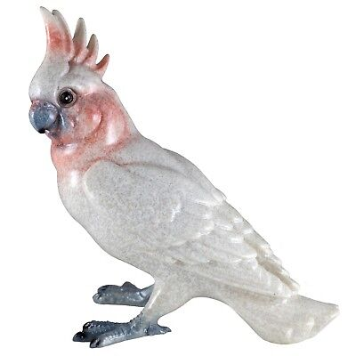 "White Cockatoo Parrot Bird Figurine 5.75"" High Glossy Finish Resin New!"