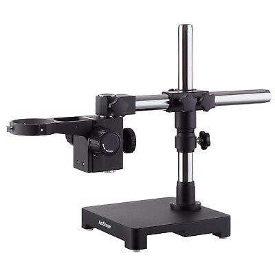 Single Steel Arm Boom Stand for Stereo Microscopes Tube Mount 76mm Focus Block