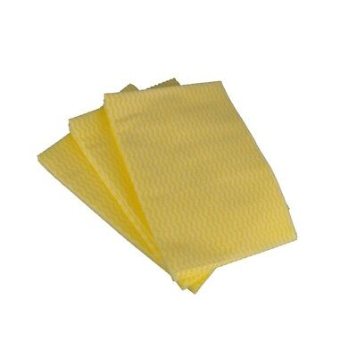 50x Disposable Wiping Cloths Yellow Cleenol 13913LY/50