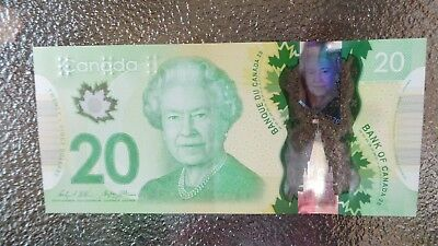 Canadian $20 Dollar Bank Note Polymer Bill FYA5523651 Circulated 2012 Canada