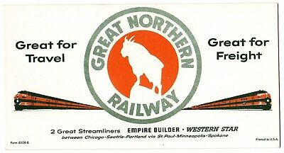 1950 Great Northern Railway Empire Builder Western Star Advertising Ink Blotter