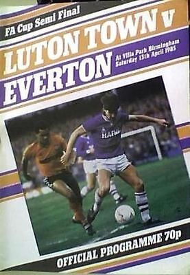 LUTON TOWN v EVERTON 1984-85 FA CUP SEMI FINAL MATCH AT VILLA PARK ASTON VILLA