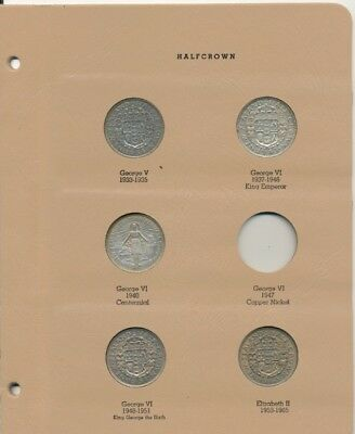 New Zealand Half Crown (5-Coins) Exact Coins Shown - 3 Coins Are Silver