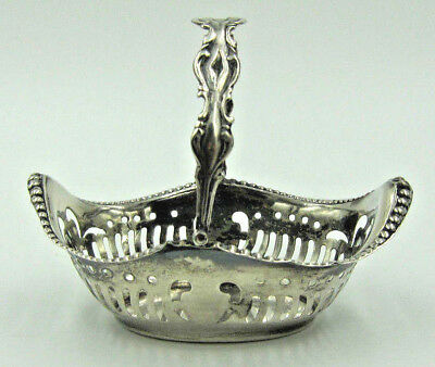 Antique Ornate Sterling Silver English Basket - Chester England - Art Nouveau
