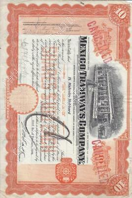 1909, Mexico Tramways Co., Punch Cancel, Canada  (S12852)