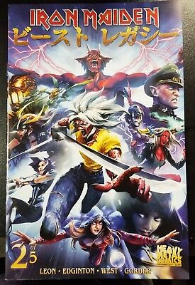 Iron Maiden Legacy of Beast #2 Leon West Heavy Metal Comic Book NM COVER C