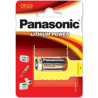 10x CR123A 3V Lithium Battery Panasonic CR123AL-BOX10