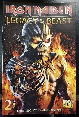 Iron Maiden Legacy of Beast #2 Leon West Heavy Metal Comic Book NM COVER B