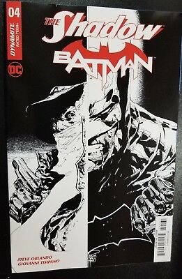 The Shadow Batman Volume 1 #4 Dynamite Variant Comic Book 2017 Fine B/w Tan