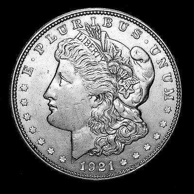 1921 D ~**ABOUT UNCIRCULATED AU**~ Silver Morgan Dollar Rare US Old Coin! #369
