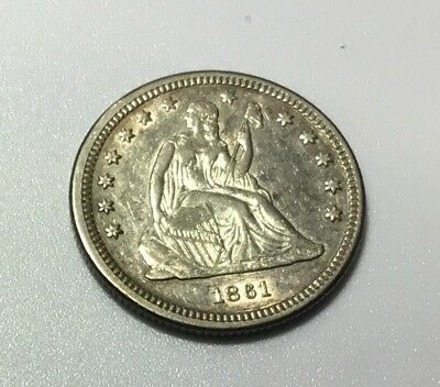 1861 Seated Liberty Quarter, Amazing AU/UNC Looking Coin!