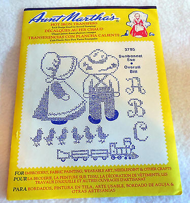 Aunt Martha 3795 Sunbonnet Sue Overall Bill Embroidery Transfer pattern