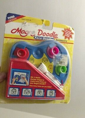 Vintage Rare Magna Doodle Face Doodler Accessory Tyco Design 1996 New on Card