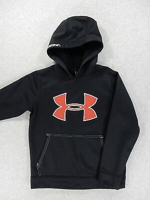 Under Armour Loose Fit Performance Hoodie Sweatshirt (Youth Small) Black