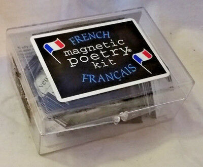 FRENCH Magnetic Poetry Kit, 550 Word Magnets + Translation Glossary, excl cond.