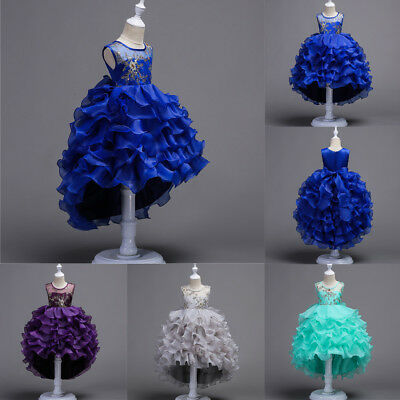 Flower Girl Dress Princess Party Wedding Bridesmaid Pafgeant Formal Kids Dresses