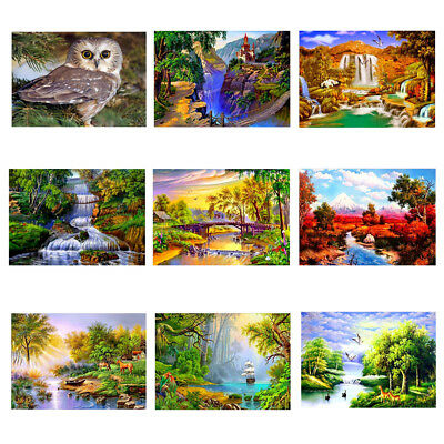5D DIY Diamond Painting Landscape Embroidery Craft Cross Stitch Home Decor Art