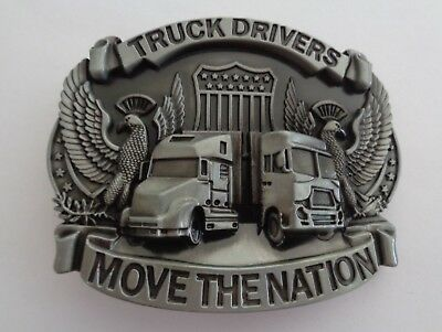 Truck Drivers Move The Nation BELT Buckle Truckers Belt Buckle