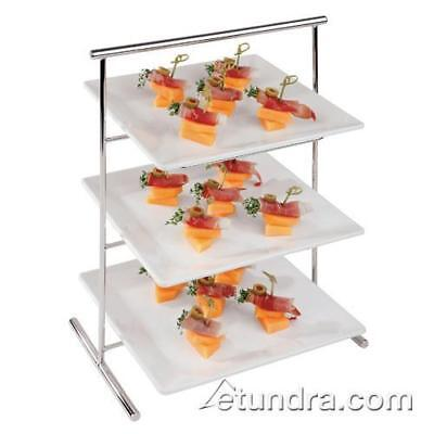 "World Cuisine - 44840-02 - 8 1/4"" x 13"" 3-Tier Chromed Steel Stand"