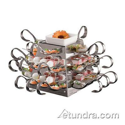 "World Cuisine - 42988-01 - 10 5/8"" Stainless Pyramid Display"