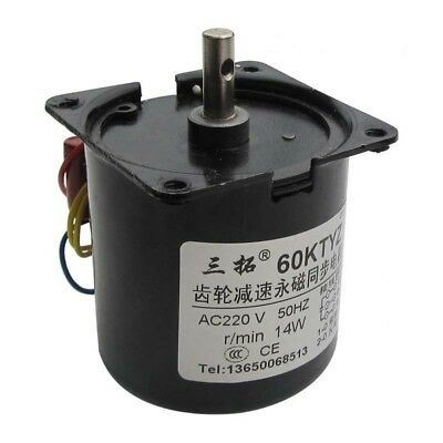 60KTYZ AC220V 14W 50Hz Speed Reducing High Torque GearBox Synchronous Gear Motor