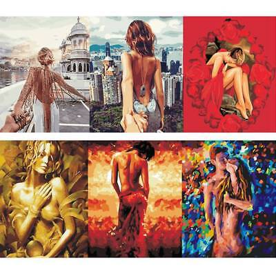 DIY Paint  By Number Kit Digital Oil  Beauty Women Painting Home Art Wall Decor