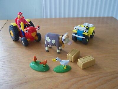 Talking Tractor Tom With Fi Figure + Buzz + Animals Etc Larger Plastic Models