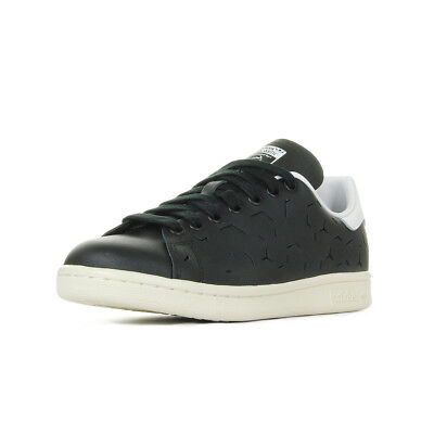 0b5bba8a90c83 Chaussures Baskets adidas femme Stan Smith W taille Noir Noire Cuir Lacets